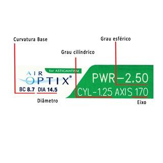 Lentes de Contato Air Optix Plus HydraGlyde Astigmatismo