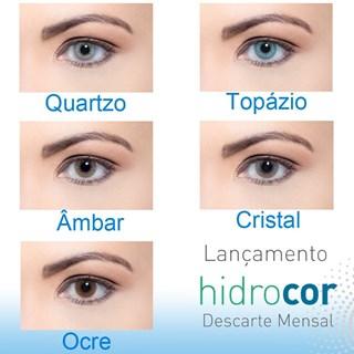 Lentes de Contato Coloridas Hidrocor - Mensal - COM GRAU