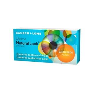 Lentes de Contato Coloridas Optima Natural Look - Anual - COM GRAU