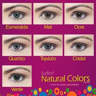 Lentes de Contato Coloridas Solflex Natural Colors - Mensal - SEM GRAU