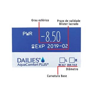 Lentes de Contato Dailies Aqua Confort Plus