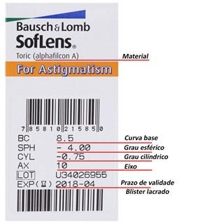 Lentes de Contato SofLens 66 Astigmatismo
